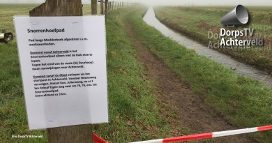 Klompenpad afgesloten langs Modderbeek