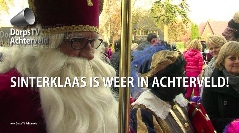 Sinterklaas is aangekomen.