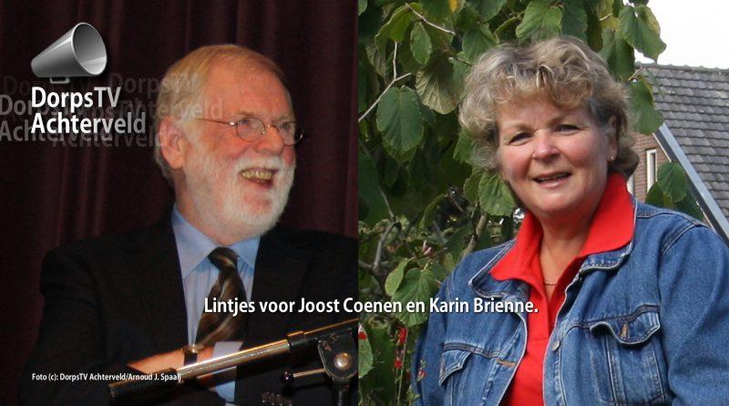 Koninklijke lintjes 2017 voor Joost Coenen en Karin Brienne.