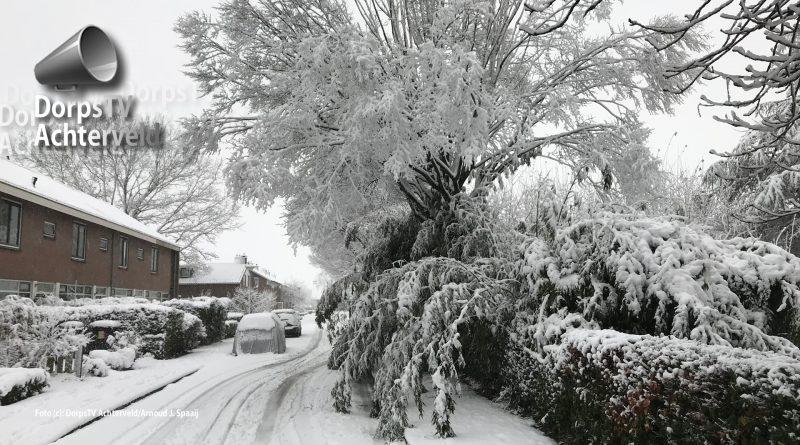 Sneeuw op takken Verjaagde Ruiterweg