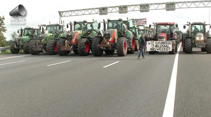 boerenprotest op A12