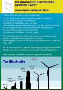 Windmolen flyer huis-aan-huis