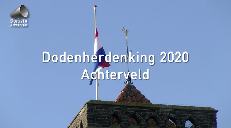 Dodenherdenking 2020 Achterveld