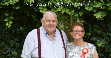 Echtpaar Van den Akker 50 jaar